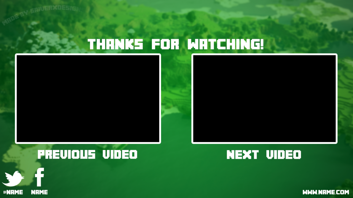 Minecraft Youtube Outro by saiverx 1191x670