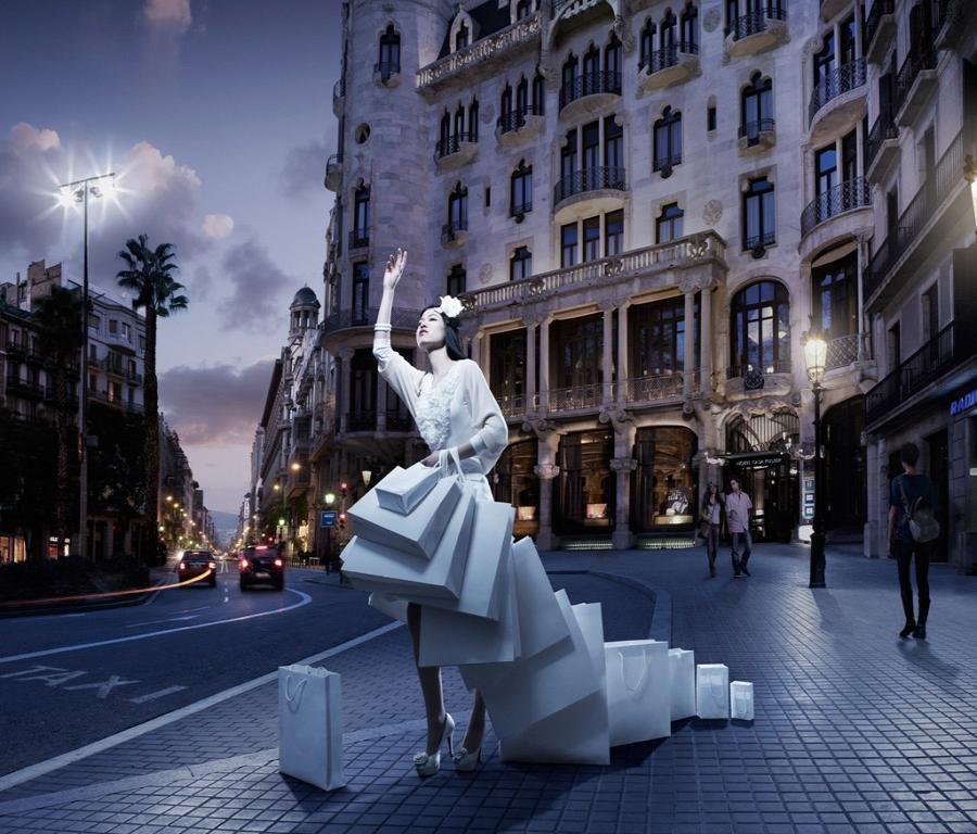 Shopaholic Woman High Resolution PC Wallpaper Photography 900x768