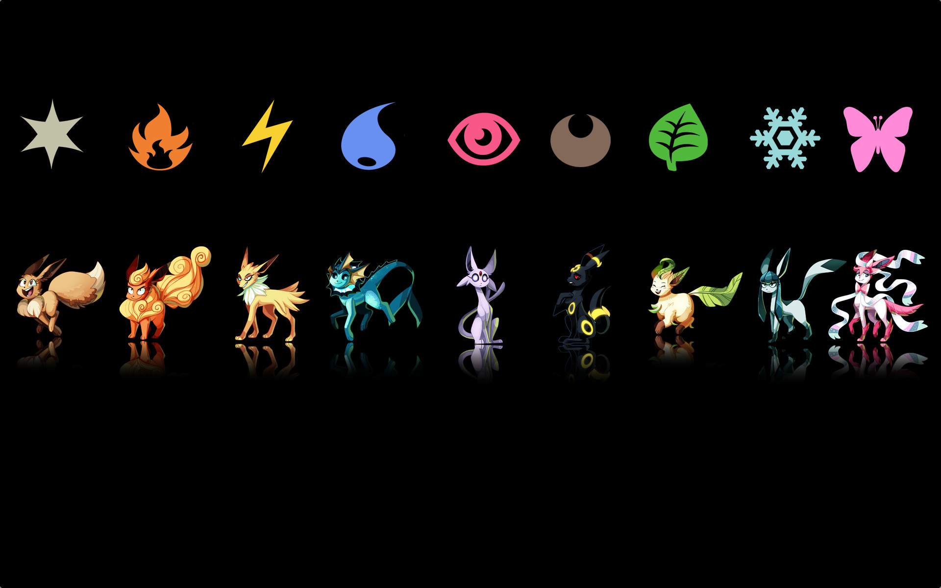 Pokemon Eevee Umbreon Wallpaper For a wallpaper of these 1920x1200