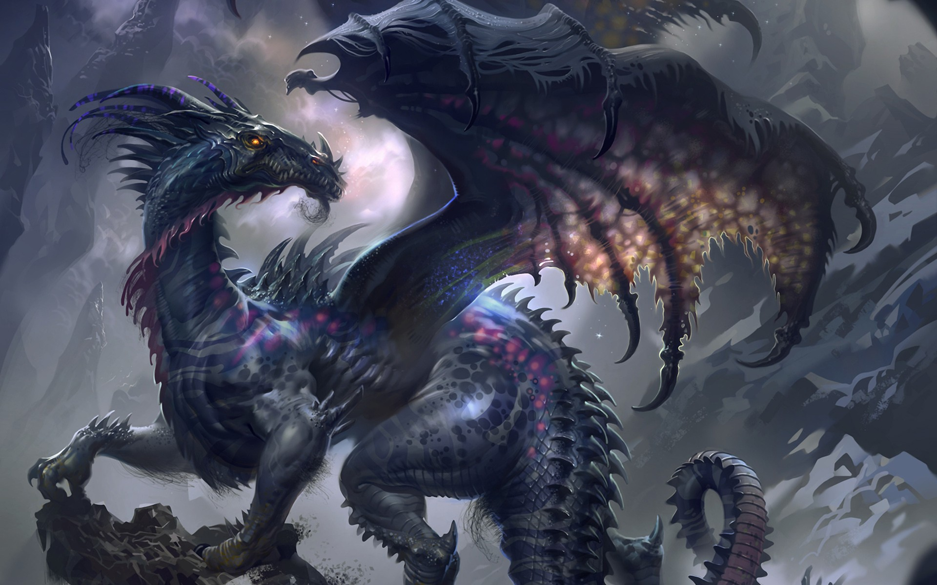 Hd wallpaper dragon - Dark Dragon Exclusive Hd Wallpapers 4298