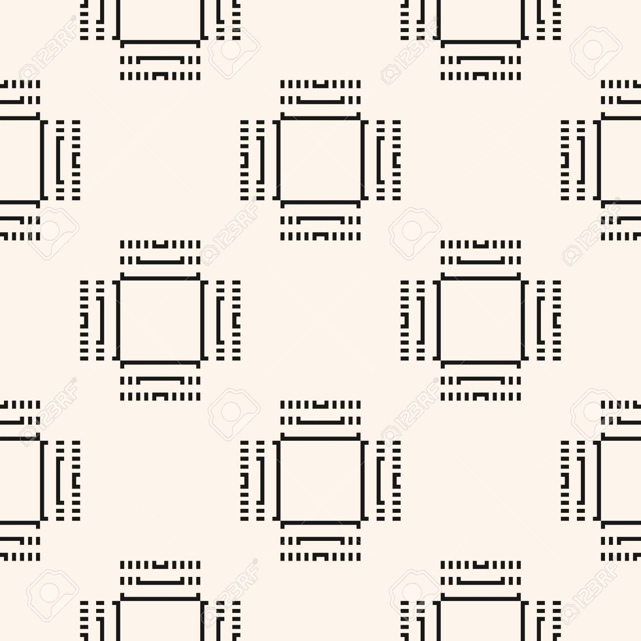 Digital Monochrome Seamless Pattern Vector Background With 1300x1300