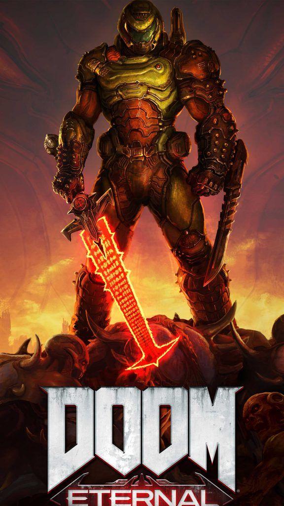 Doom Eternal 2020 Doom game Doom 3 Comic book heroes 576x1024