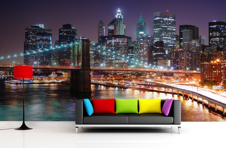 Free Download Brooklyn At Night Wallpaper Wall Mural