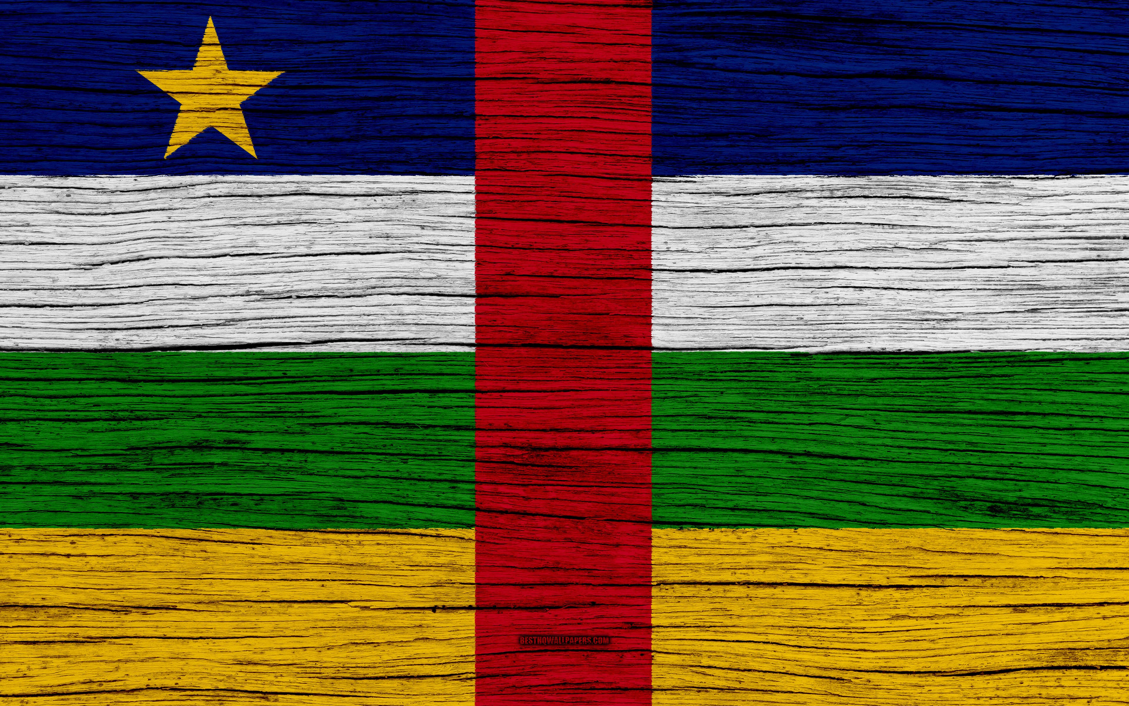 Download wallpapers Flag of Central African Republic 4k Africa 3840x2400