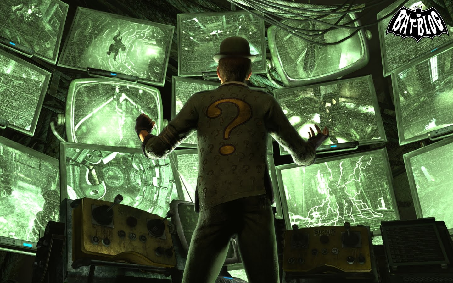 THE RIDDLER Wallpaper Backgrounds From BATMAN ARKHAM CITY Video Game 1440x900