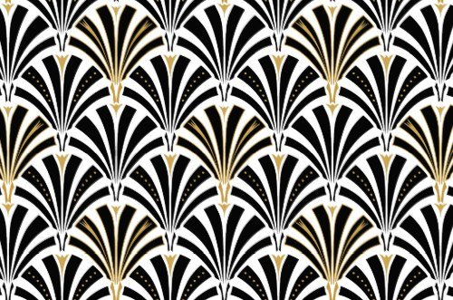 Wallpaper retro art deco wallpapersafari - Papier peint art deco ...