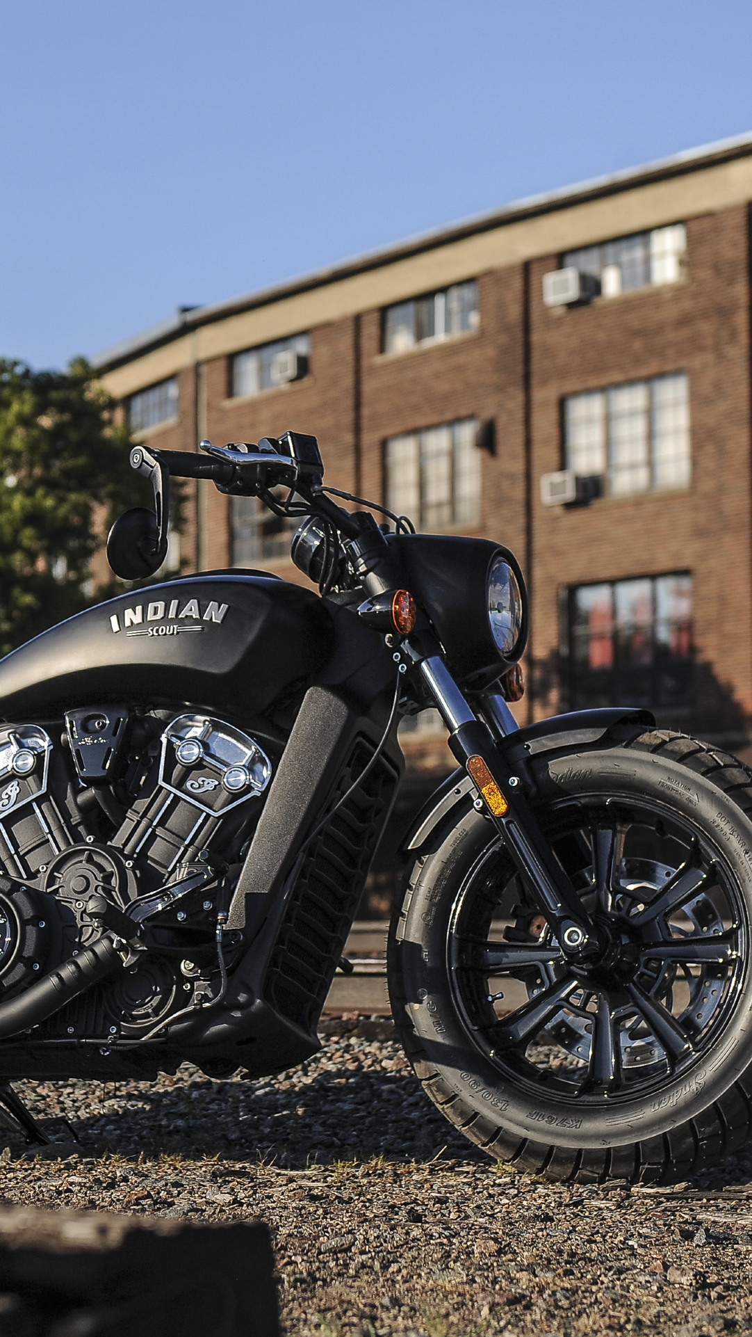 American Motorcycles Indian Scout Bobber 2018 Wallpaper HD Cars 1082x1922