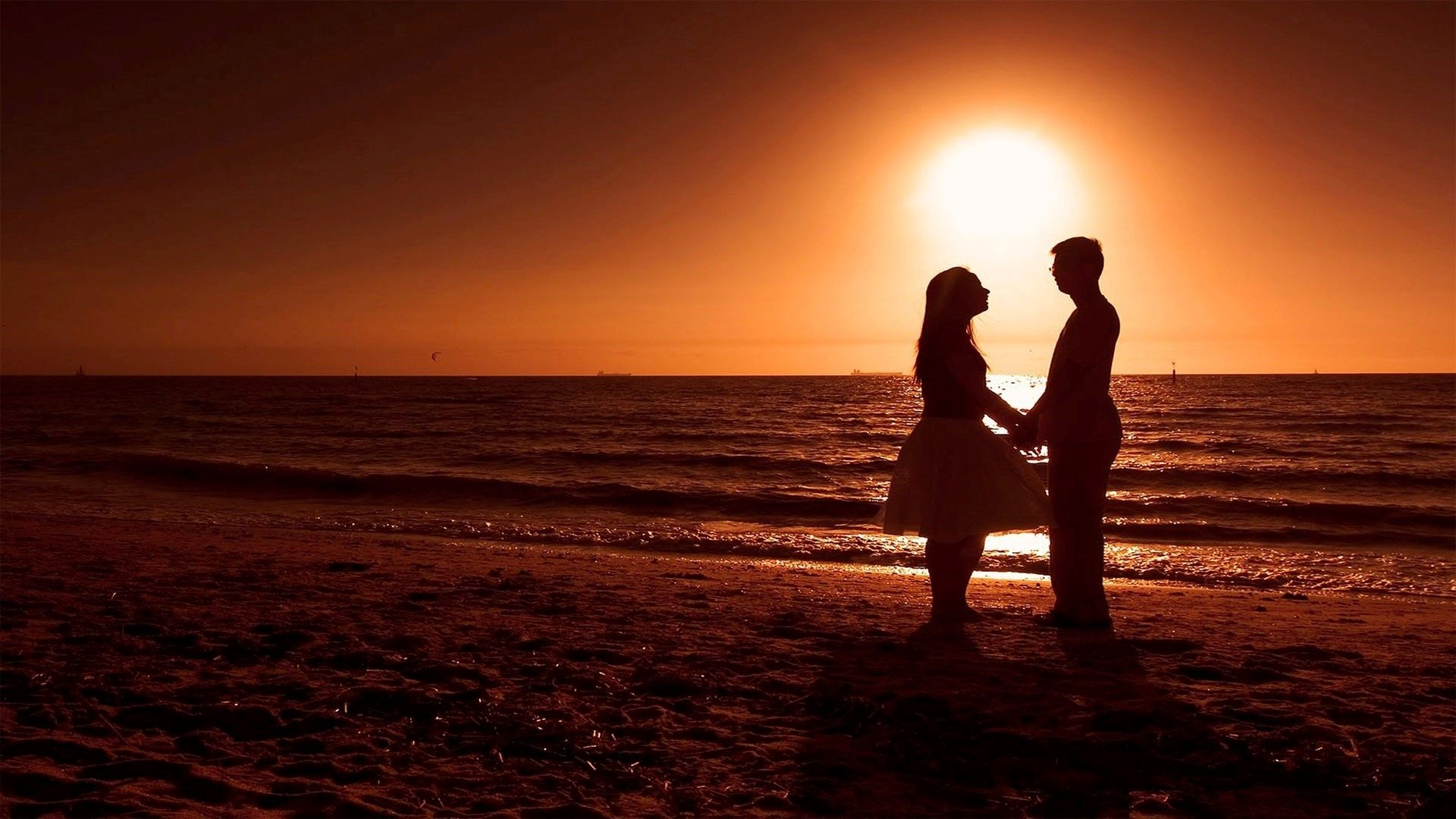 Romantic Beach Sunset Wallpapers Background BozhuWallpaper 1920x1080