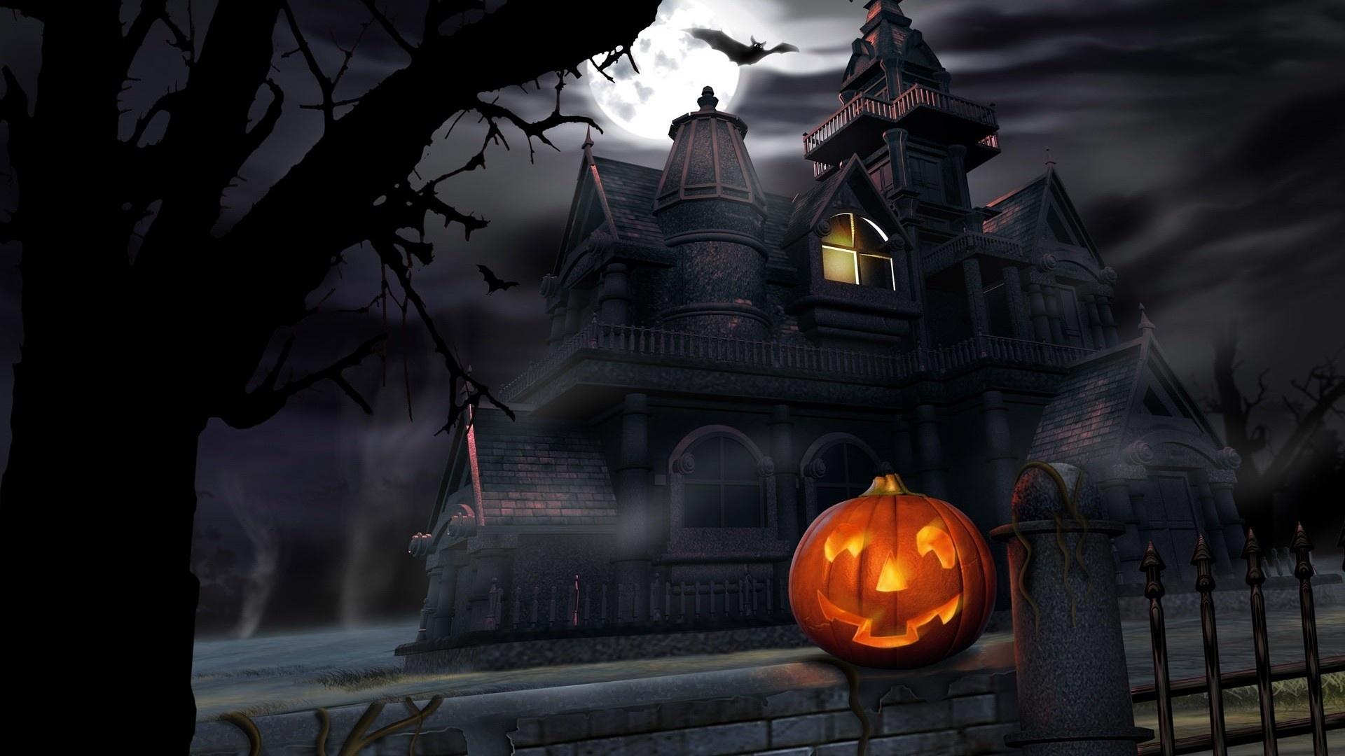 com wallpapers halloween house windows - photo #2
