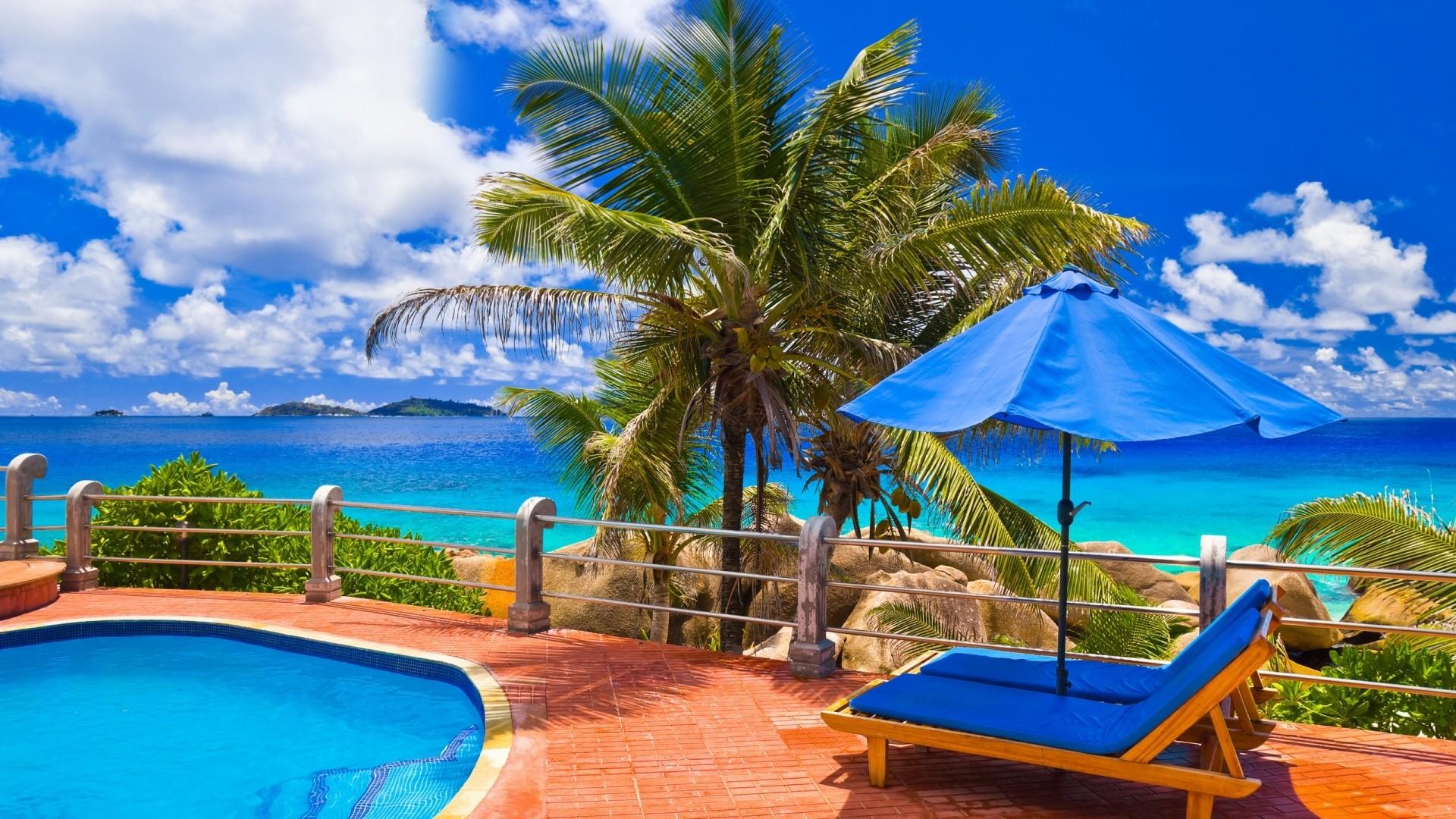 Beach Resort Background Images 10387 Wallpaper Wallpaper hd 1920x1080