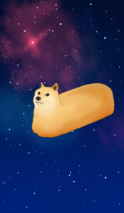Doge Twinkie Wallpaper Space Shibe By 400x687