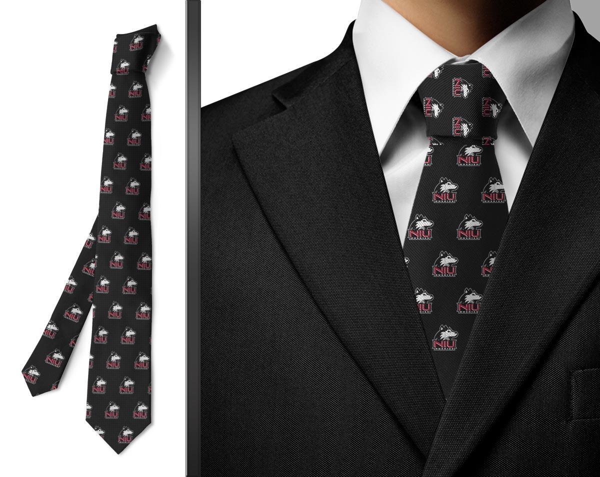 Details about Northern Illinois University Huskies Wallpaper Tie Black 1200x954