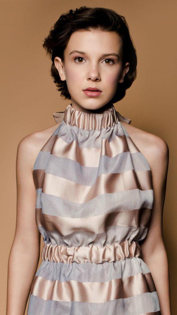 Celebrity short hair cute Millie Bobby Brown wallpaper 720x1280