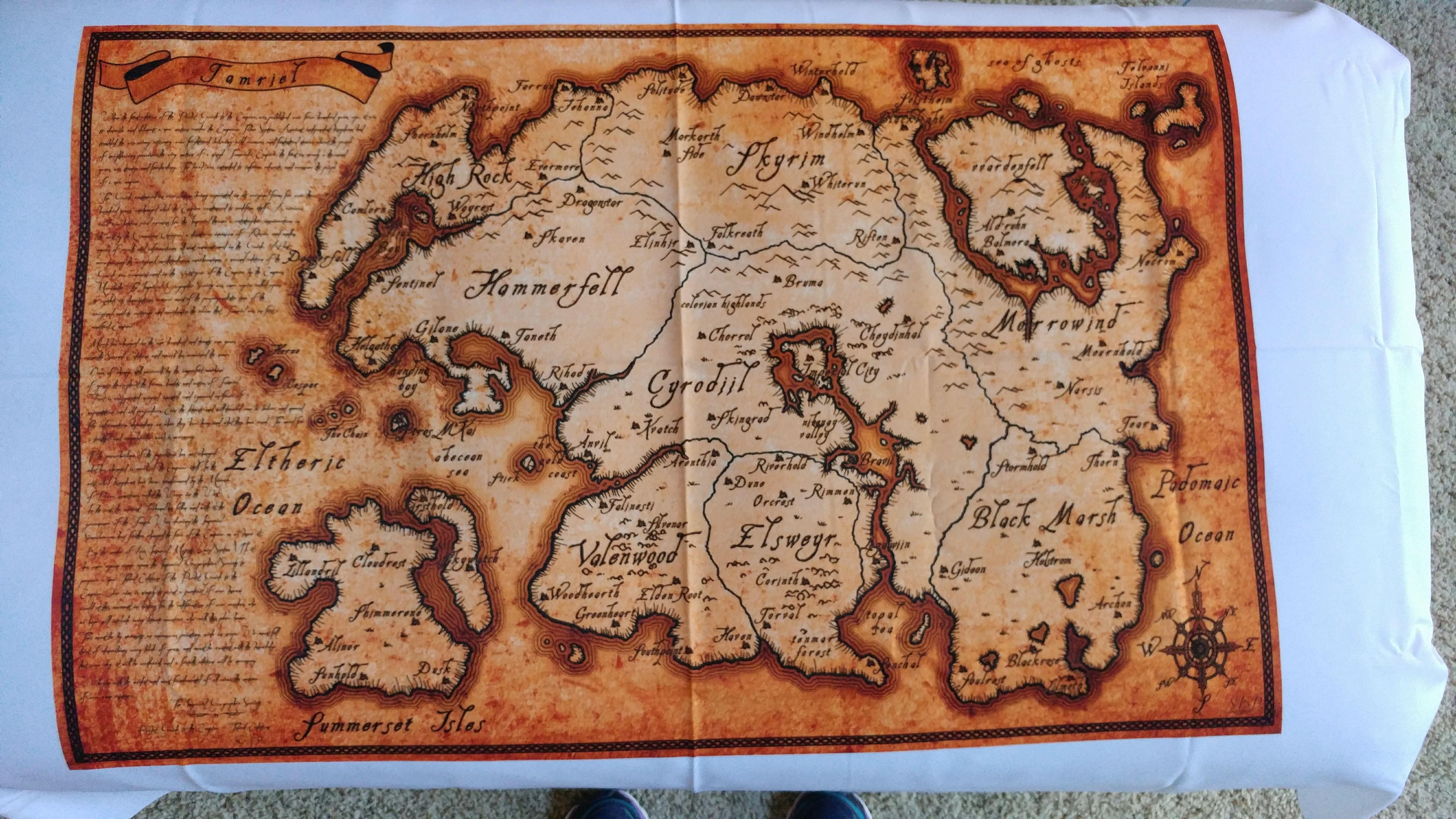 Fabric map of Tamriel   Album on Imgur 5312x2988