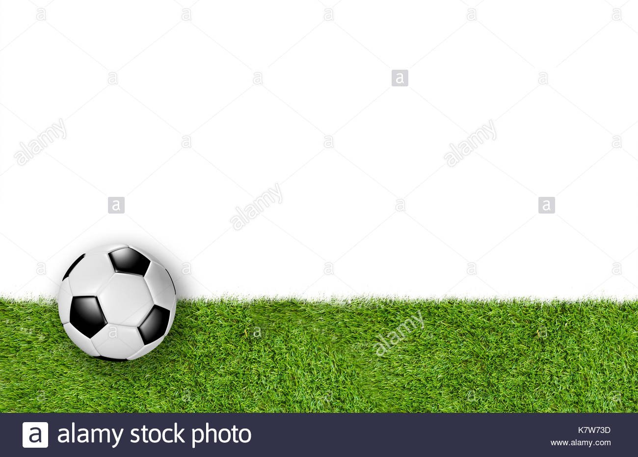 Grass lower third on white background with European football known 1300x931