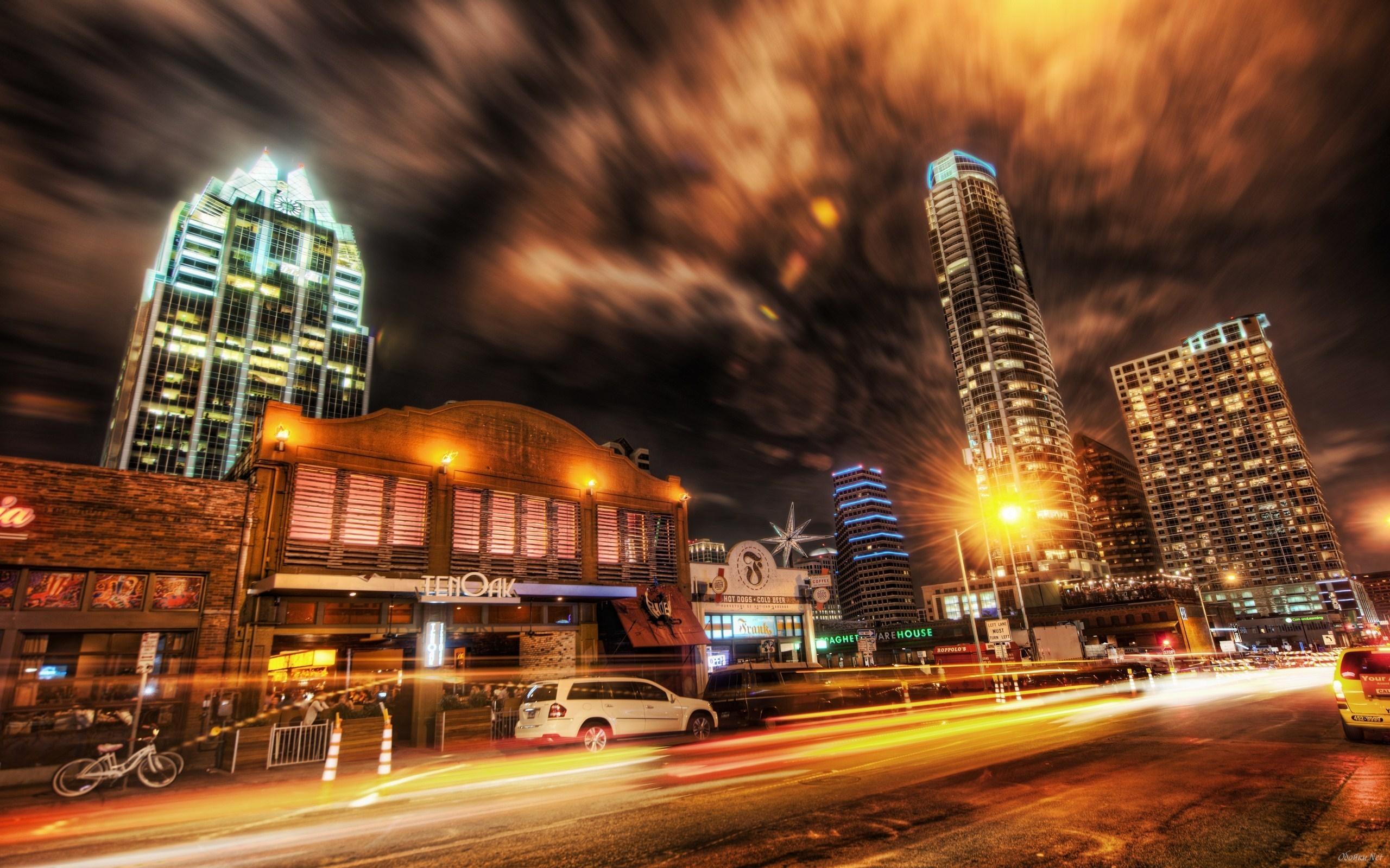 Ordinary night city street HD Desktop Wallpaper HD Desktop Wallpaper 2560x1600