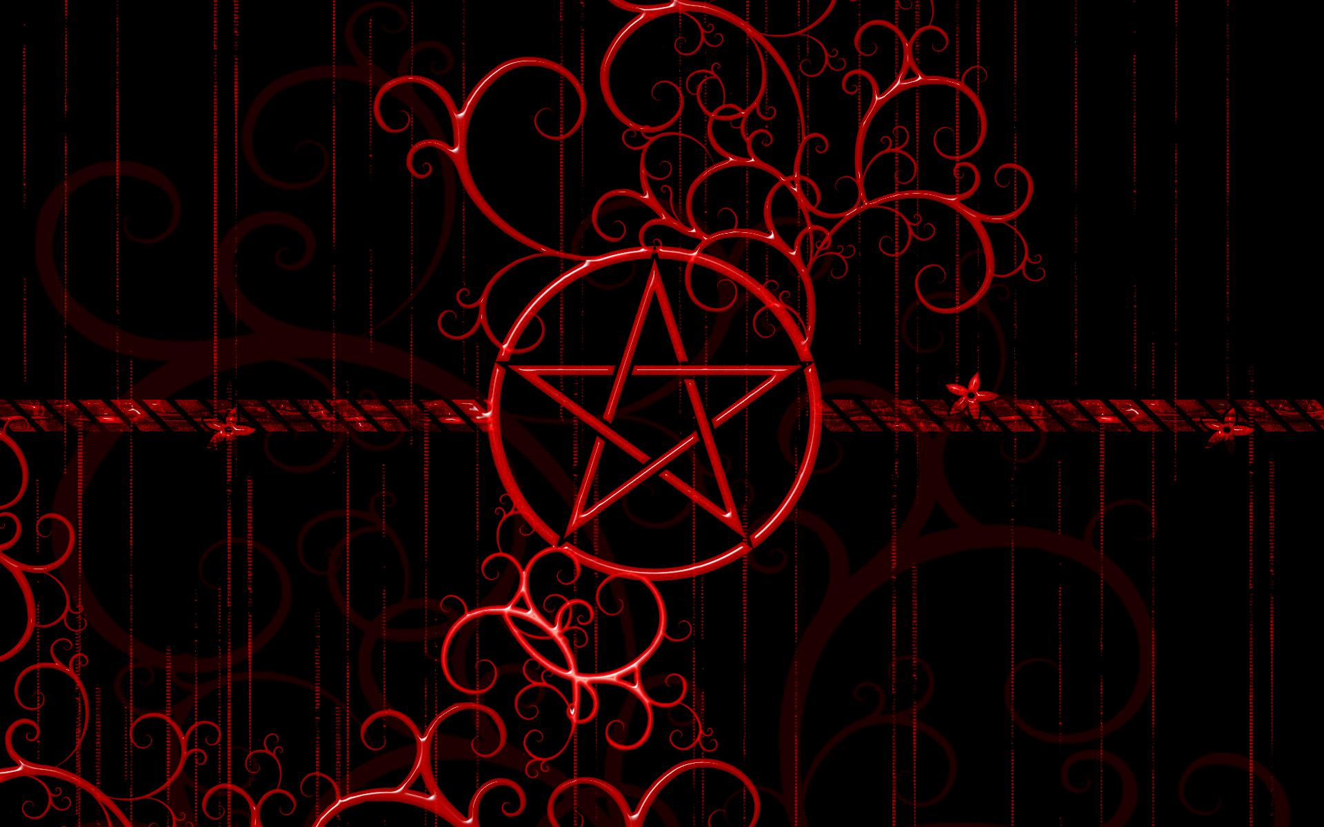 dark horror evil symbol satan penta star wallpaper background 1920x1200