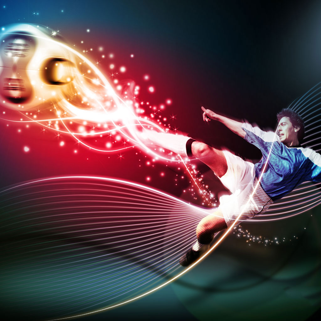 Football Volley wallpaper 1024x1024