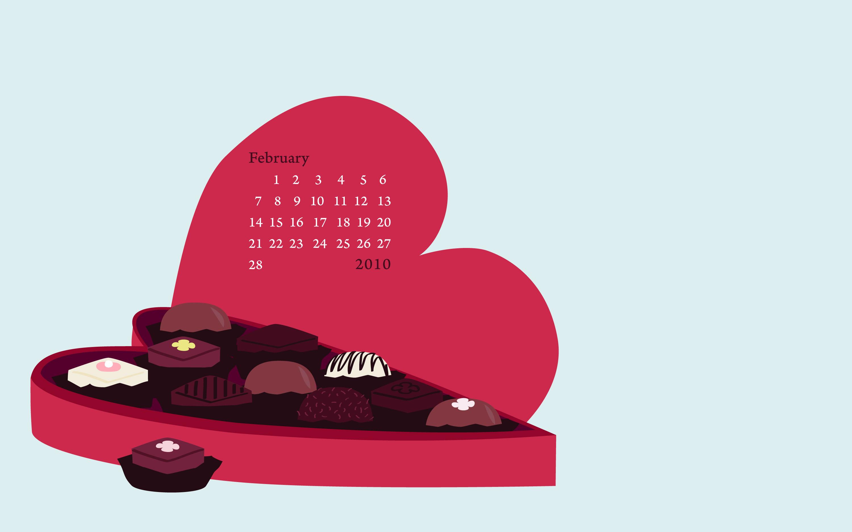 free february desktop wallpaper Calobee Doodles 3000x1875