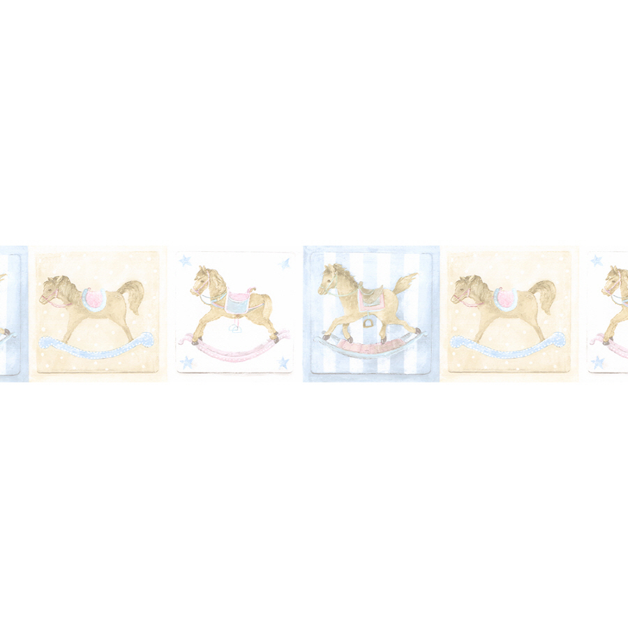 Shop Norwall 7 Rocking Horse Prepasted Wallpaper Border at Lowescom 900x900