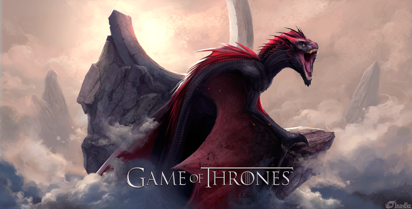Game of Thrones   Dragon Drogon by IrenBee 1600x813