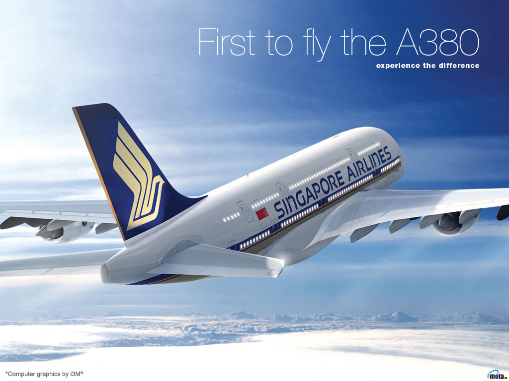 Wallpaper Airbus A380 Singapore Airlines Airbus A380 Airbus A380 1024x768