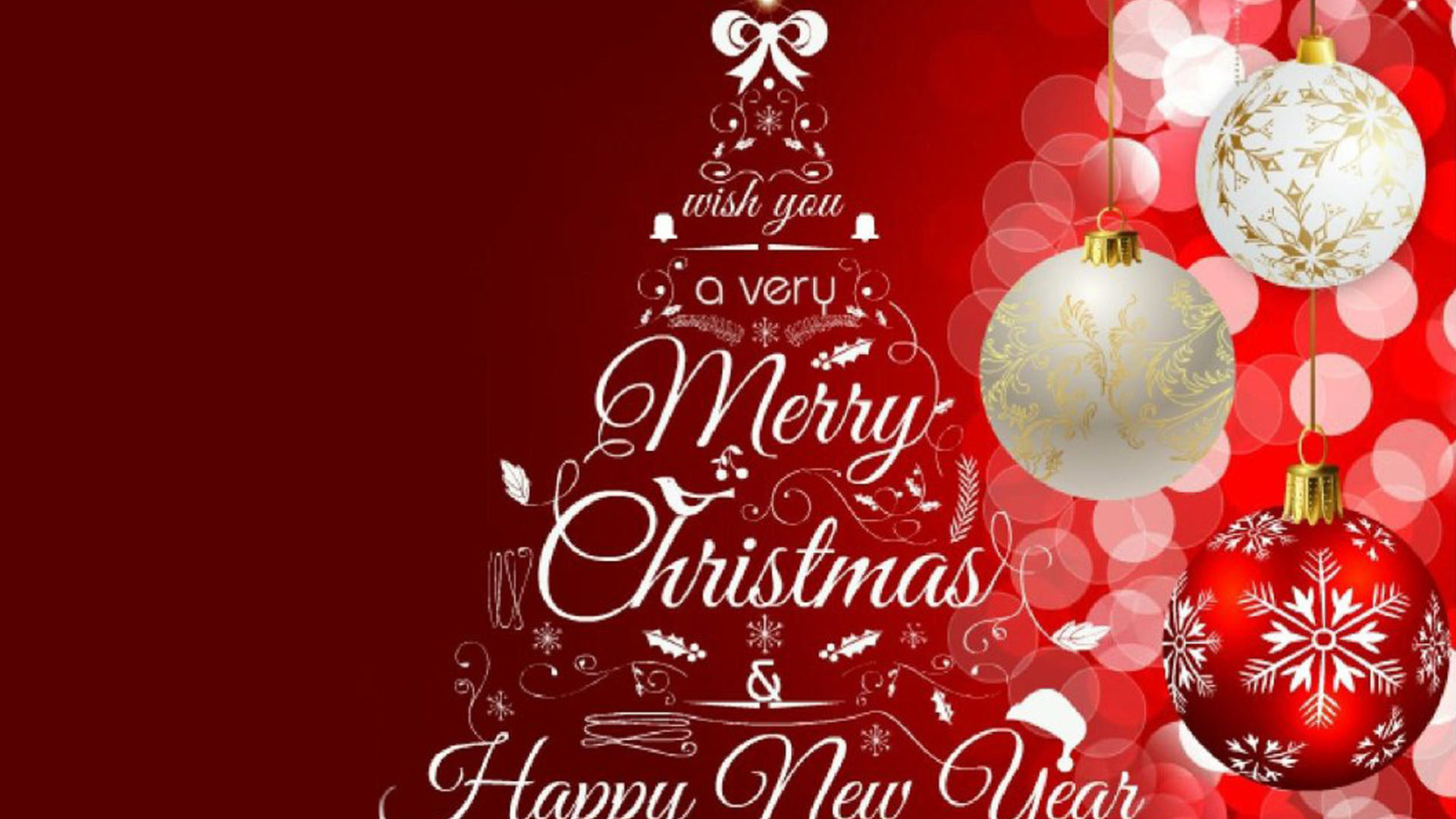 Greeting Card Merry Christmas And Happy New Year 2020 Images 1920x1080