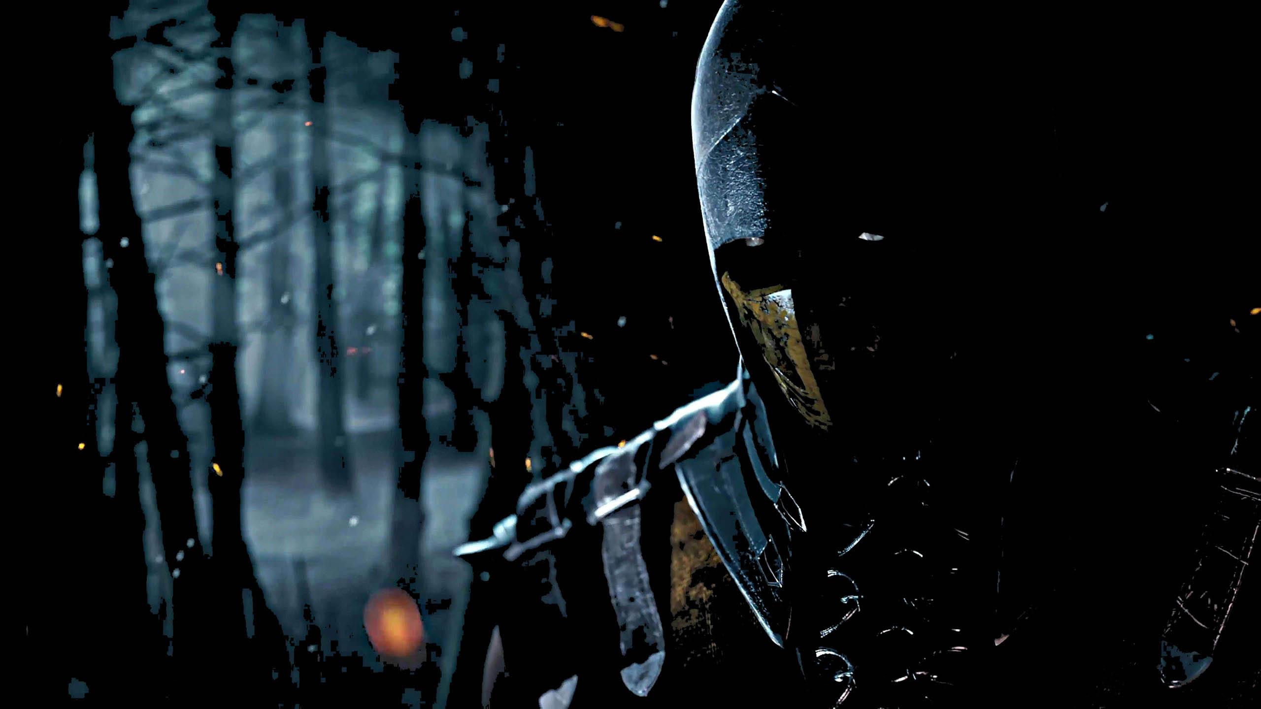 Mortal Kombat X Artwork Scorpion in the Dark   2560x1440 2560x1440