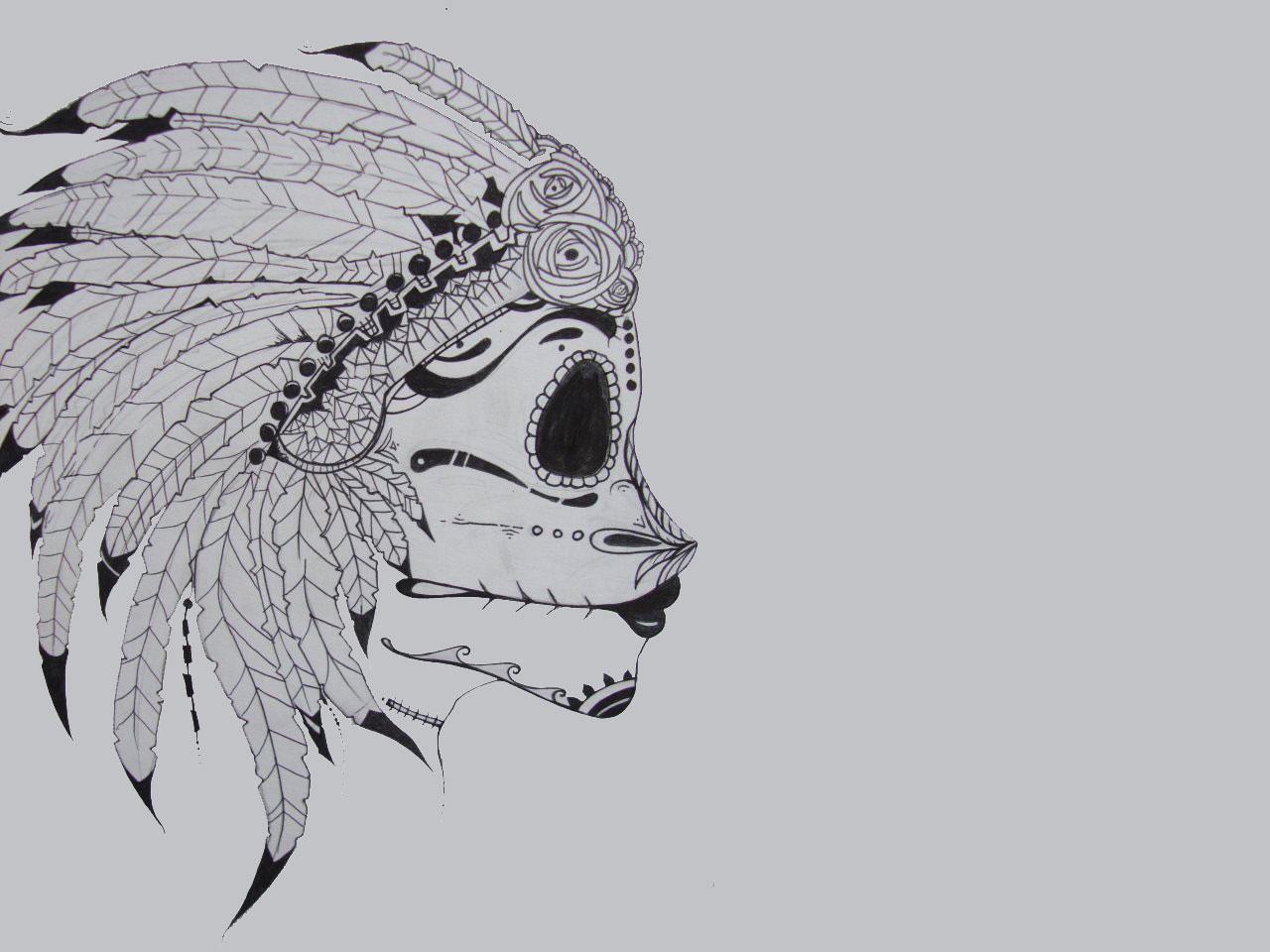 Red Indian Tribal Tattoo design wallpapers   Tattoo Design Ideas 1280x960