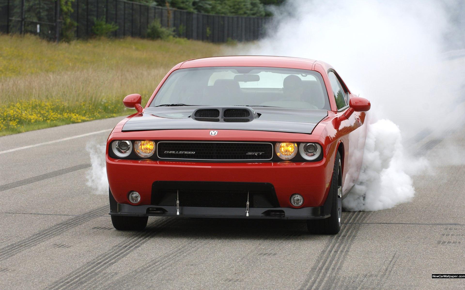 Download Srt10 Concept Muscle Cars Burnout Smoke Roads Wallpaper