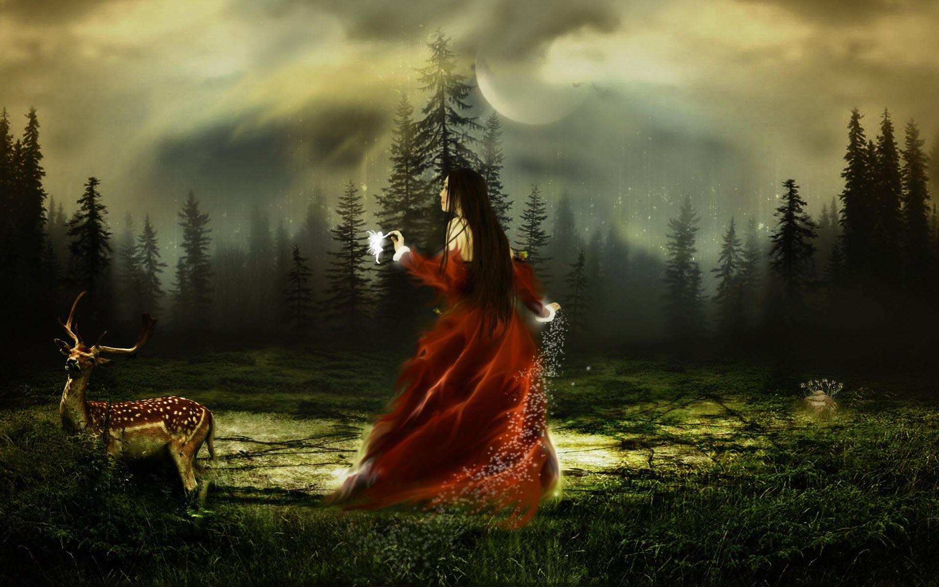 HD Fantasy Girl 3 Screensaver Backgrounds   Ventubecom 1920x1200