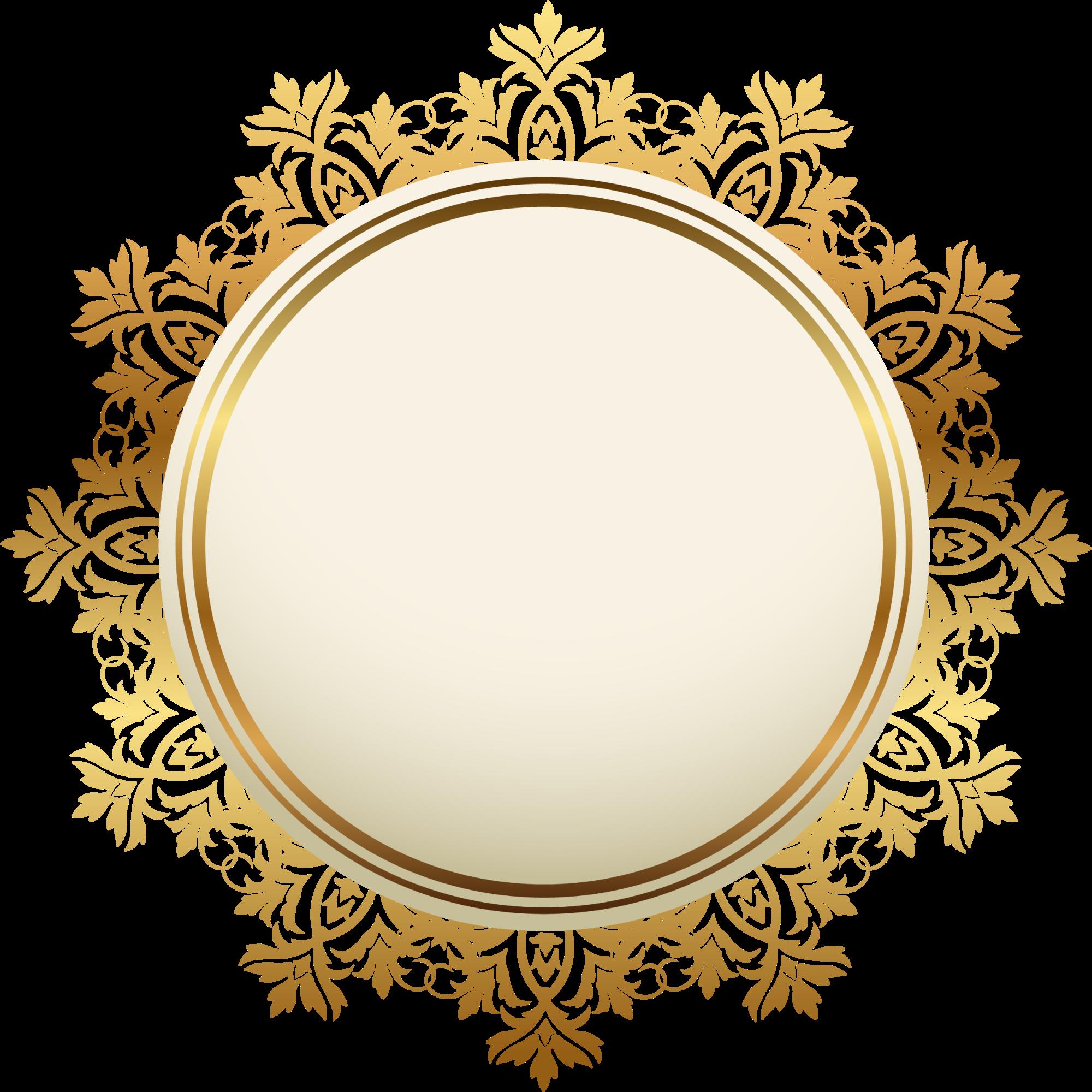 Golden Badge PNG Background Image PNG Arts 2000x2000