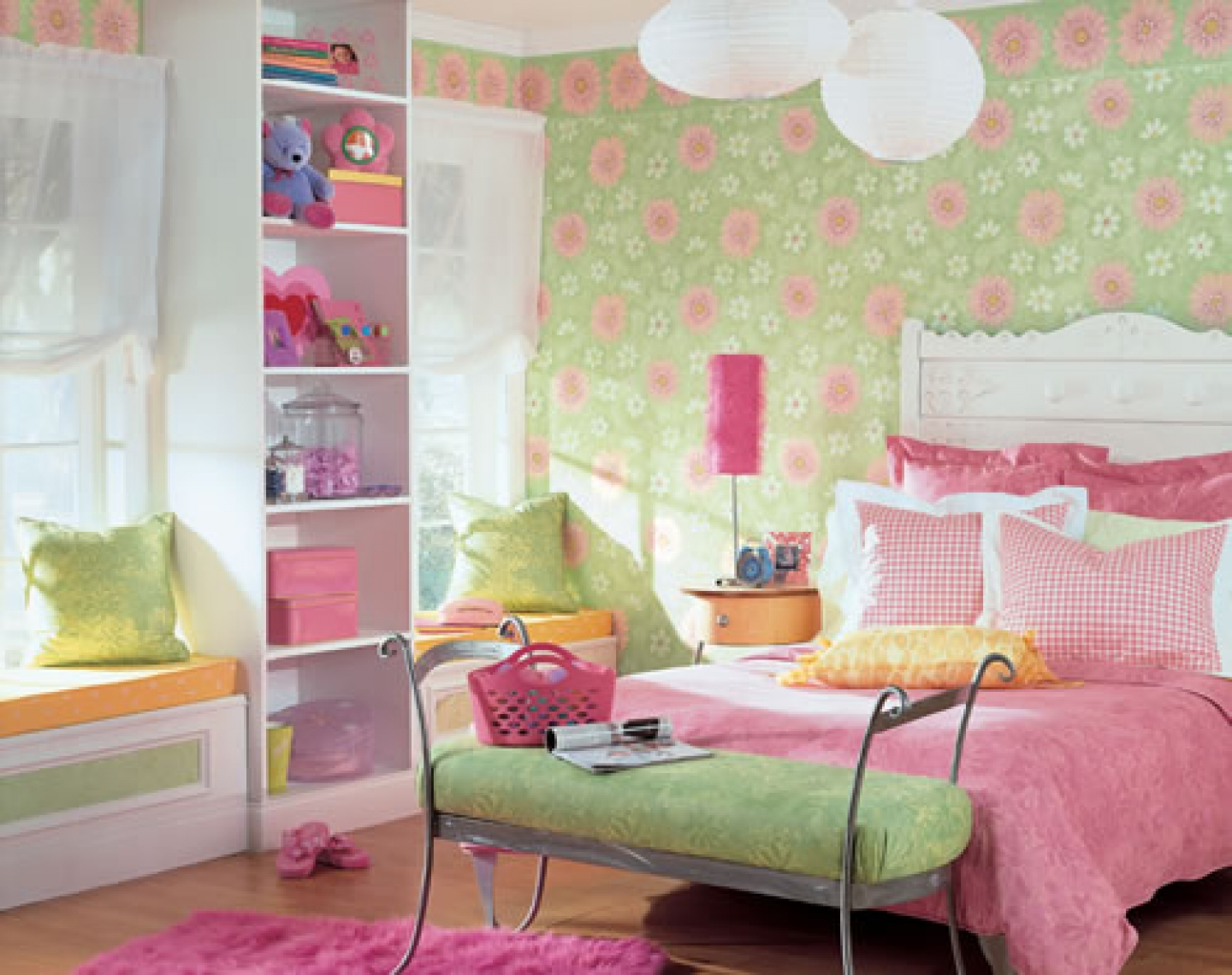 Modern girls bedroom wallpaper ideas girls bedroom wallpaper girls 1440x1140