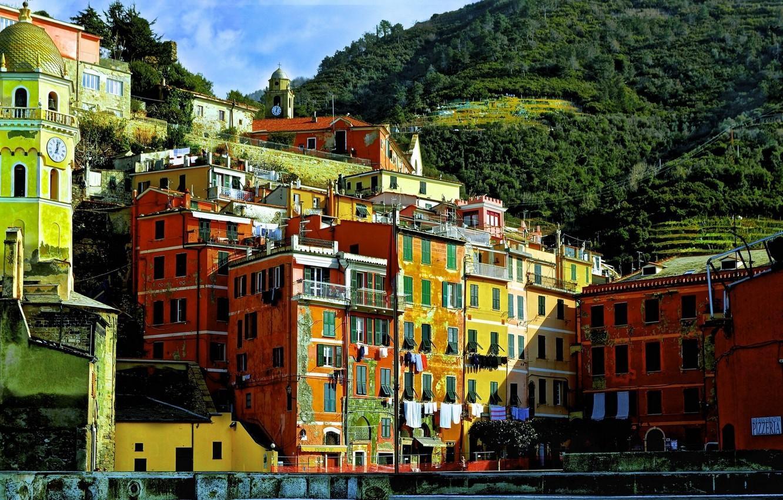 Wallpaper Italy Cinque Terre Vernazza building Cinque Terre 1332x850