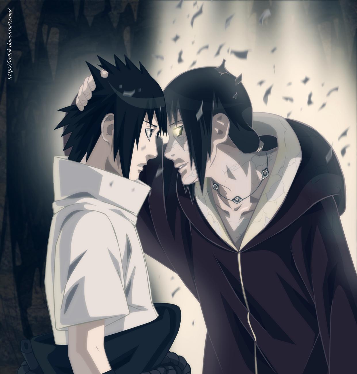 uchiha sasuke and  itachi by ioshik d54aacjpng 1241x1300