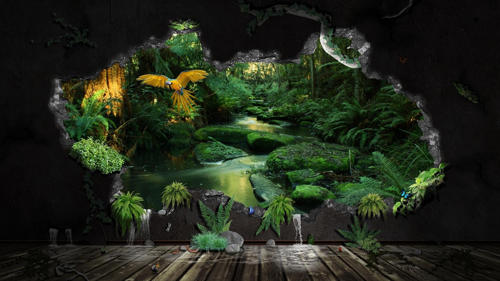 Jungle wallpaper for home wallpapersafari for 80s wallpaper home
