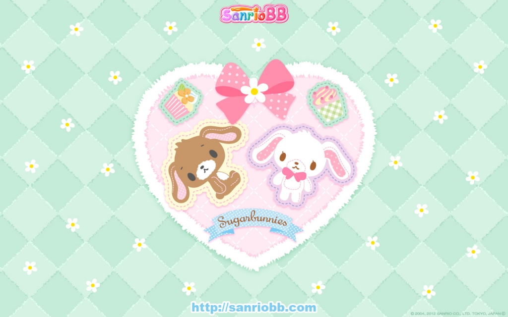 Wallpapers Sugar Bunnies vol 01   Le Coin Kawaii 1024x640