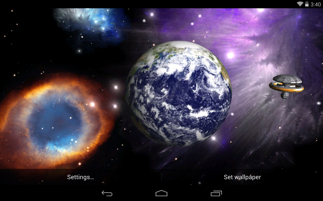 Galaxy Space Live Wallpapers Hd By Narendra Doriya: Earth And Moon Live Wallpaper