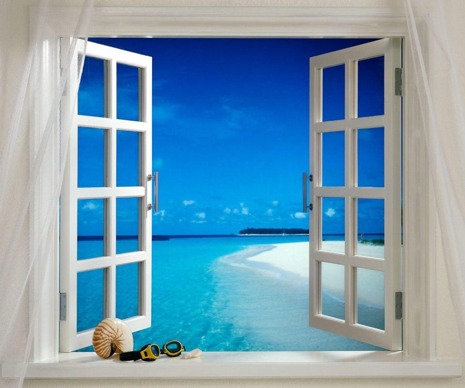 Best Windows Wallpaper Ever Wallpapersafari: Beach Window Wallpaper