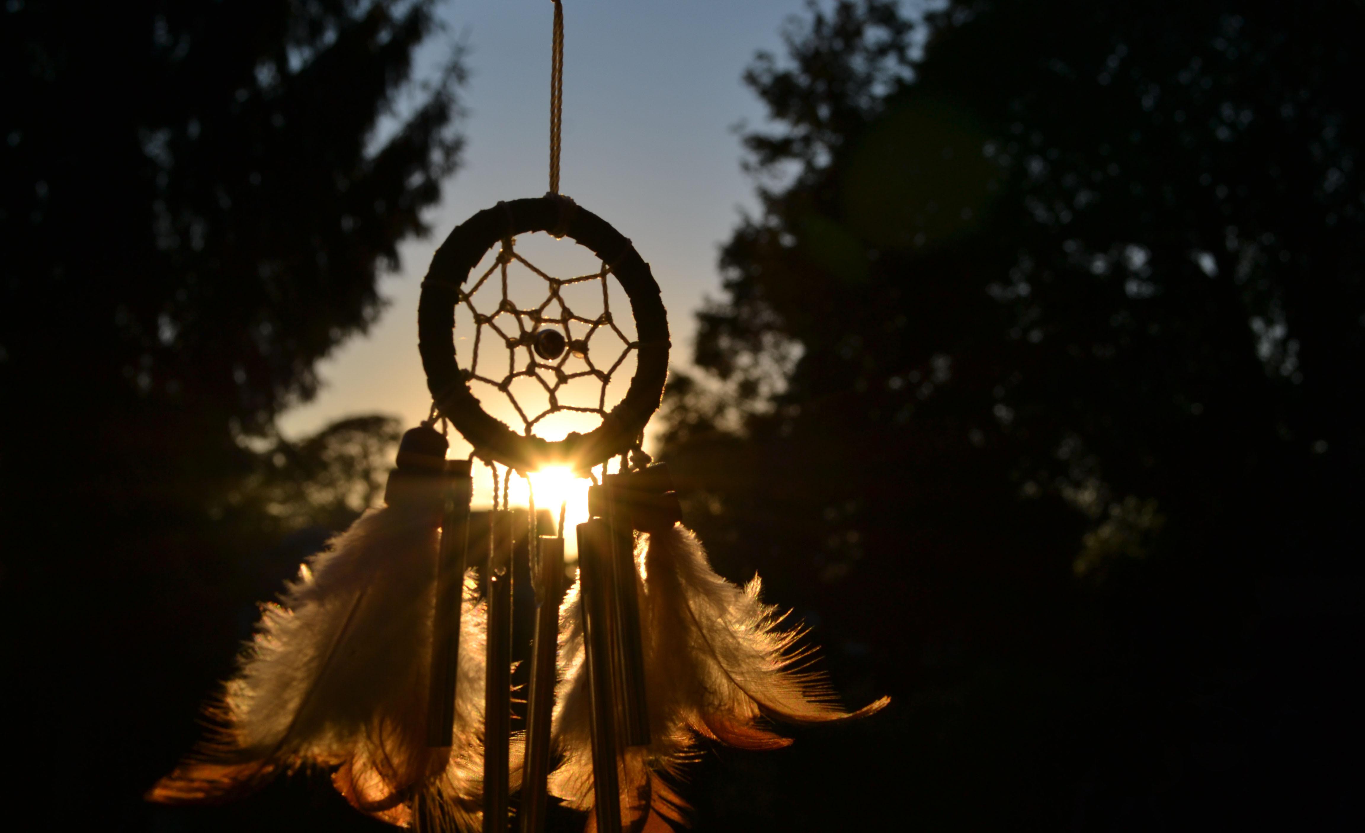 Wallpaper dreamcatcher dreamcatcher talismans amulets feathers 4608x2814