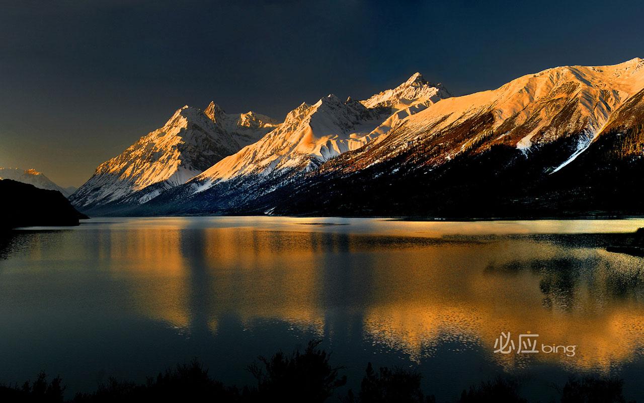 Ranwu Lake in Tibet Landscape Wallpapers   download 1280x800