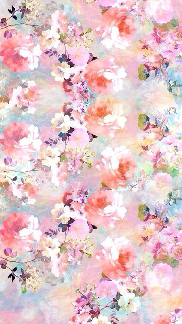 Iphone wallpaper   pink floral bg Pinterest 640x1136