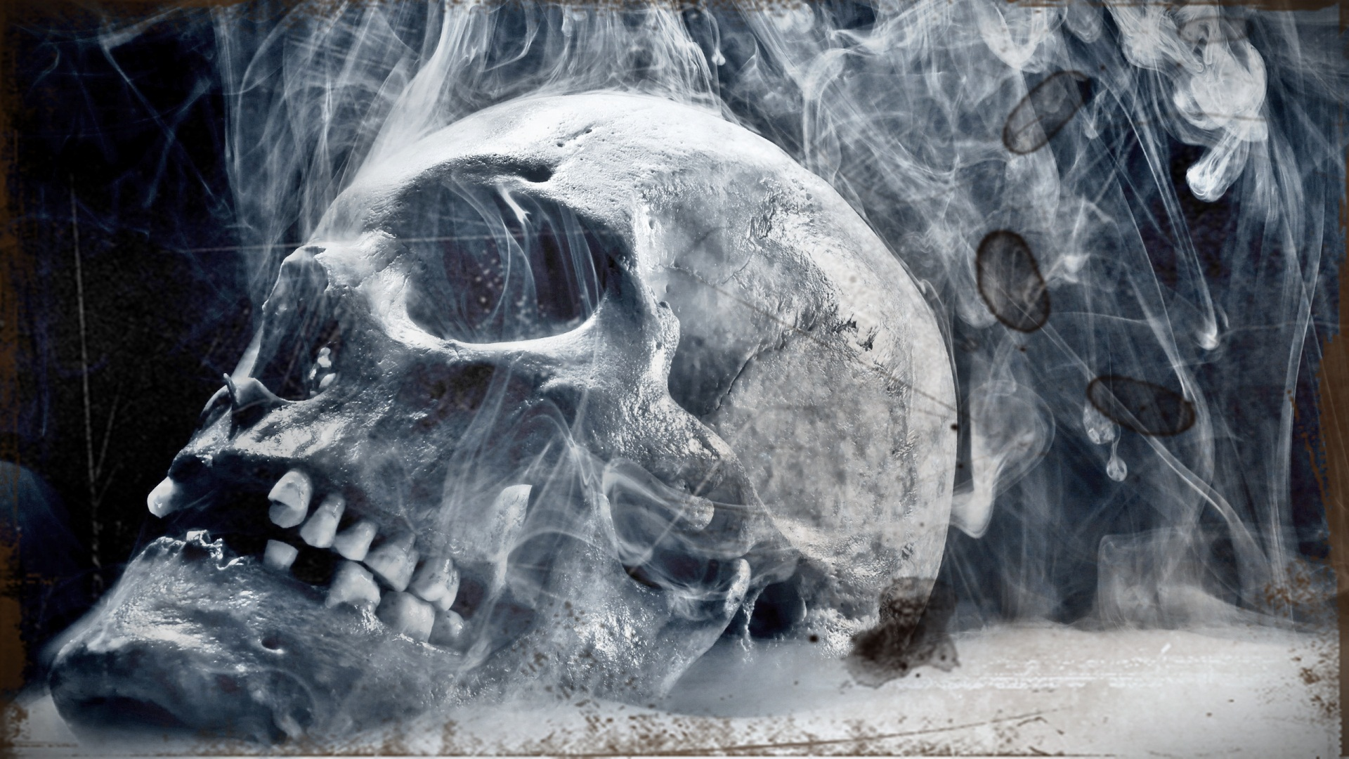 Skull Smoke 3d Hd Wallpaper 20411 Wallpaper High 1920x1080