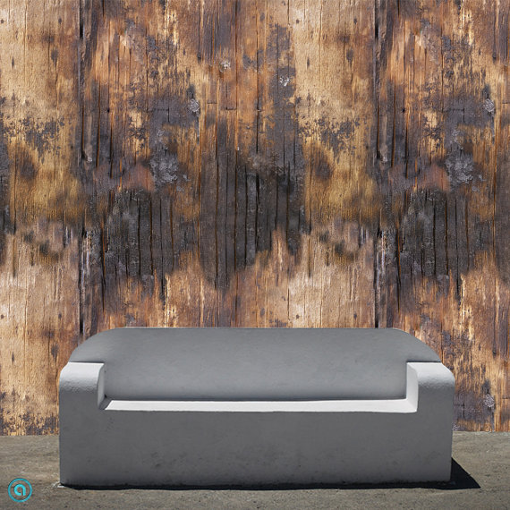 Removable Wallpaper Singed Wood Peel Stick by AccentWallCustoms 570x570