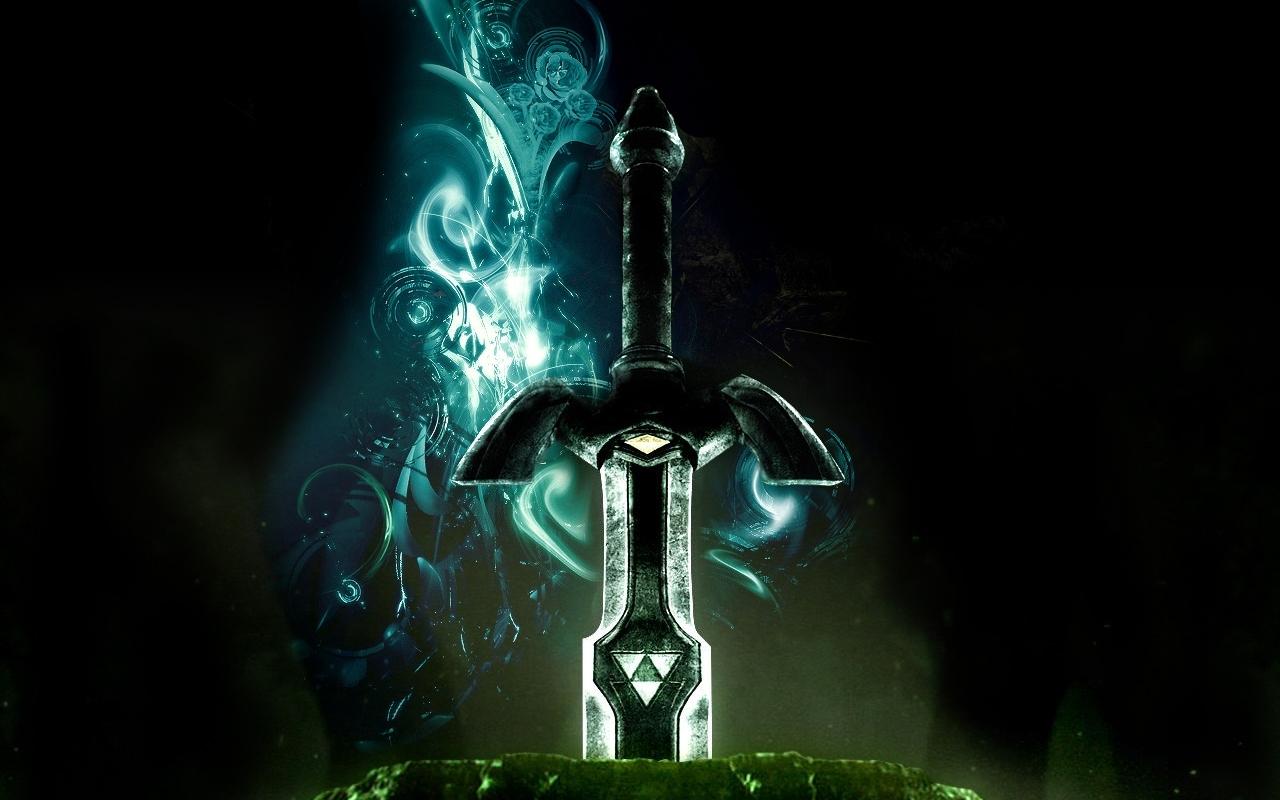 triforce the legend of zelda master sword 1280x1024 wallpaper download 1280x800