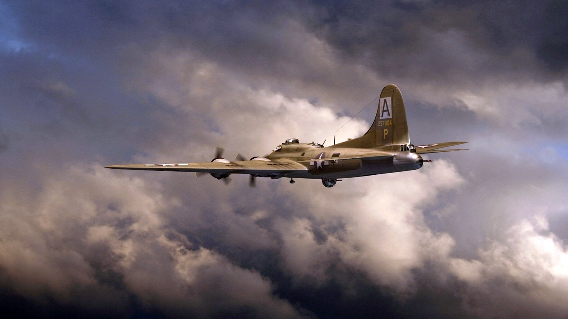 boeing b 17 flying fortress art HD wallpaper 1920x1080