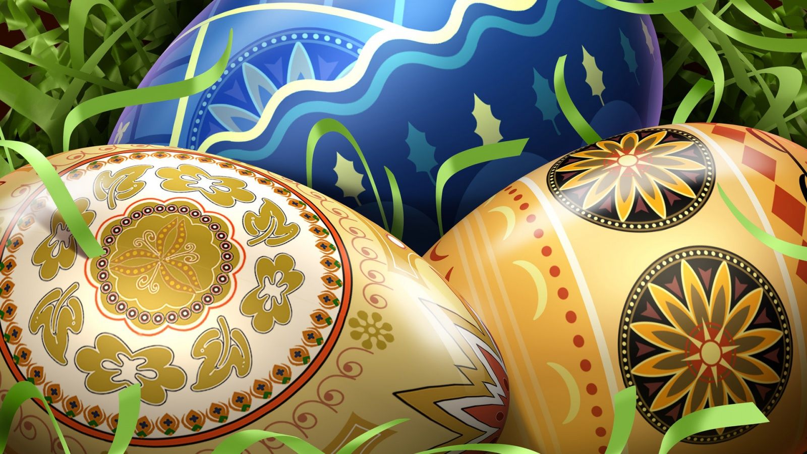 Easter Eggs wallpaper desktop background in 1600x900 HD Widescreen 1600x900