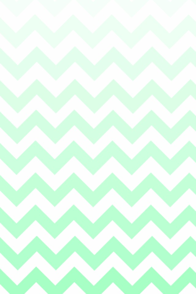 Mint Chevron Wallpaper Ombre 640x960