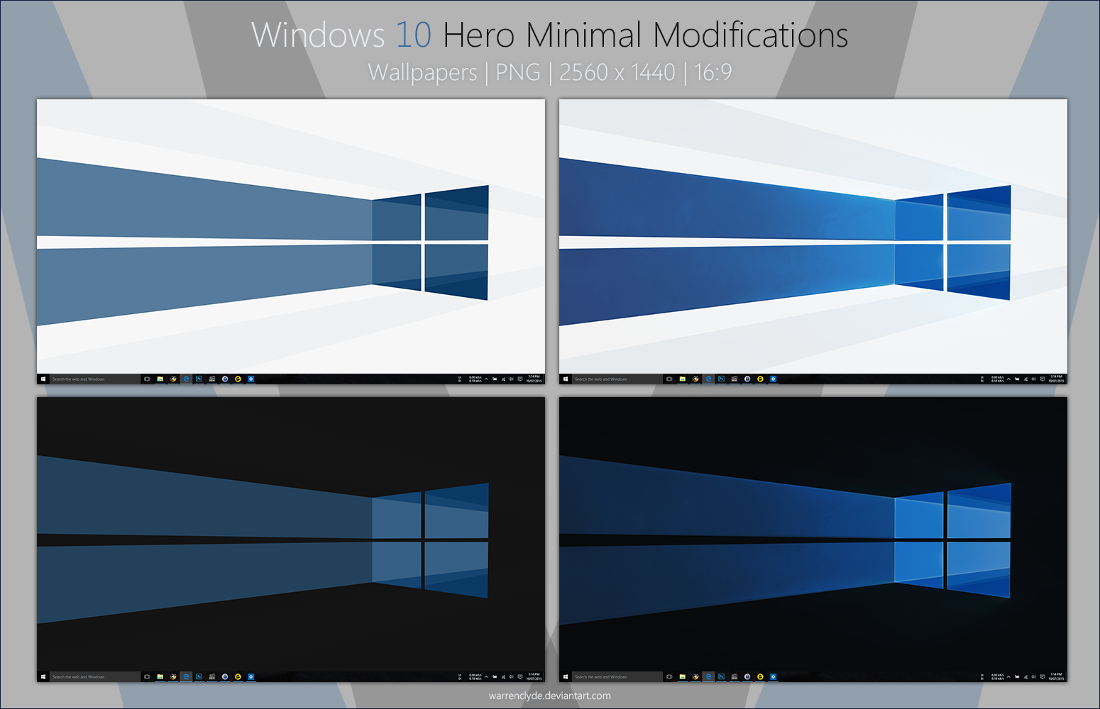 Windows 10 Hero Minimal Wallpapers by WarrenClyde 1550x1000