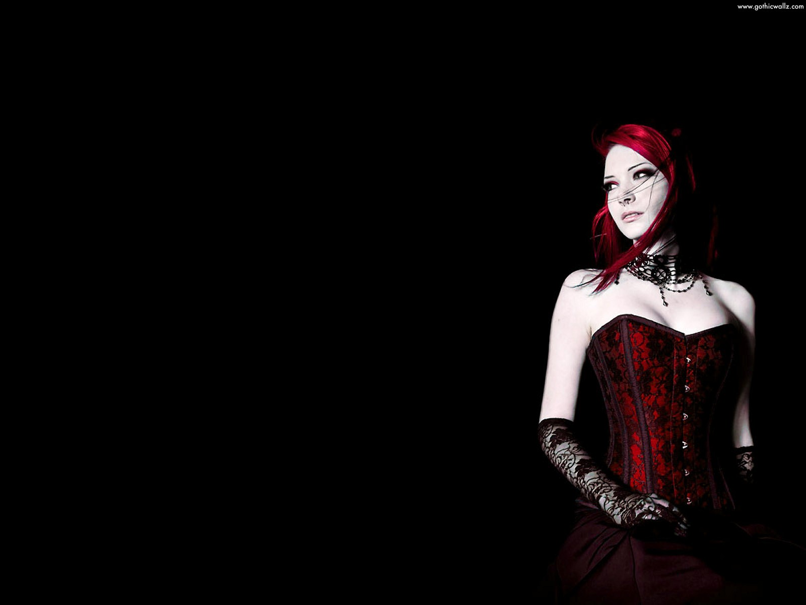 Gothic Girl Wallpaper   Red Gothic Girl Wallpaper Scary Wallpapers 1600x1200